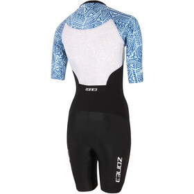 Zone3 Lava Short Sleeve Trisuit Women black/white/blue